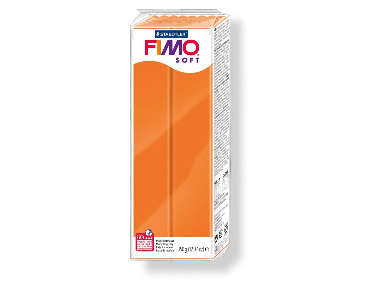 Fimo Soft Tangerine 350g Polymer    Clay Block Fimo Colour Reference 42