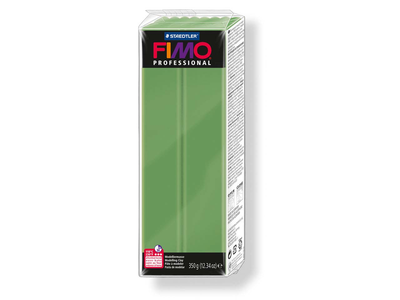 Fimo Professional Leaf Green 350g  Polymer Clay Block Fimo Colour     Reference 57