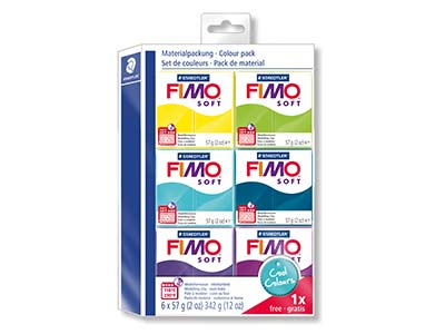 Fimo Soft Cool Colours Polymer Clay Set 51 Free