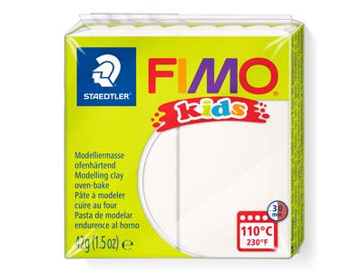 Fimo Kids White 42g Polymer Clay   Block Fimo Colour Reference 0