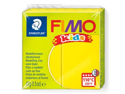 Fimo Kids Yellow 42g Polymer Clay  Block Fimo Colour Reference 1