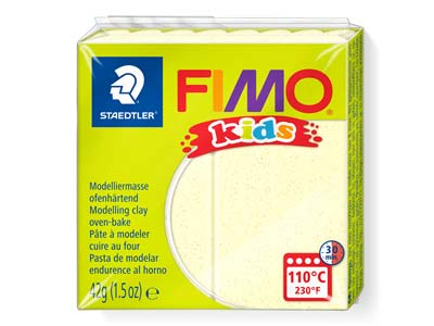Fimo Kids Pearl Yellow 42g Polymer Clay Block Fimo Colour Reference   106