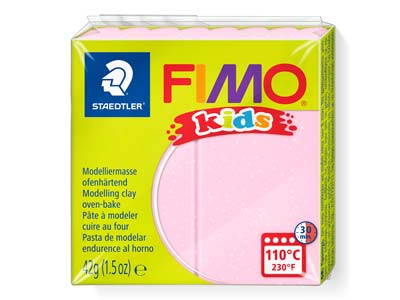 Fimo Kids Pearl Rose 42g Polymer   Clay Block Fimo Colour Reference   206