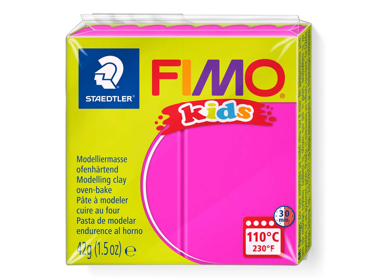 Fimo Kids Fuchsia 42g Polymer Clay Block Fimo Colour Reference 220