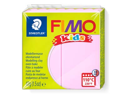 Fimo Kids Light Pink 42g Polymer    Clay Block Fimo Colour Reference 25
