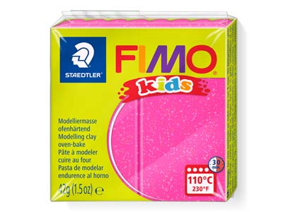 Fimo Kids Glitter Pink 42g Polymer Clay Block Fimo Colour Reference   262