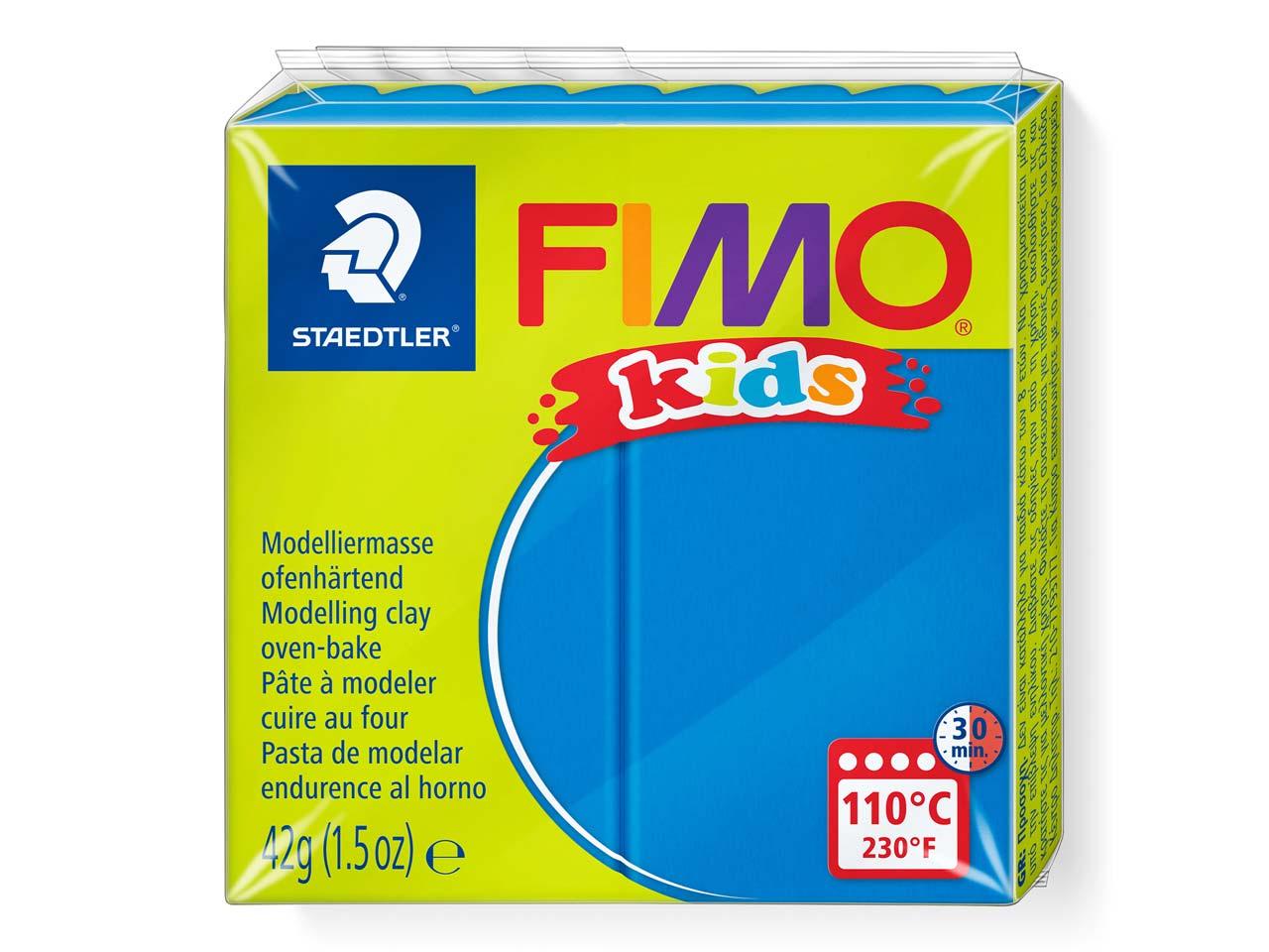 Fimo Kids Blue 42g Polymer Clay    Block Fimo Colour Reference 3