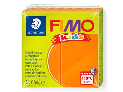 Fimo Kids Orange 42g Polymer Clay  Block Fimo Colour Reference 4