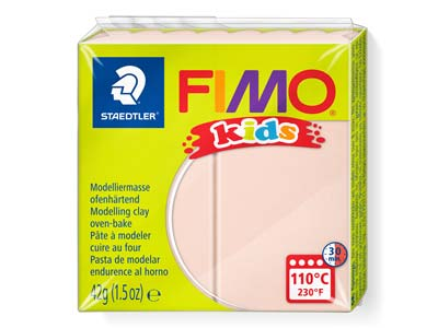 Fimo Kids Flesh 42g Polymer Clay   Block Fimo Colour Reference 43