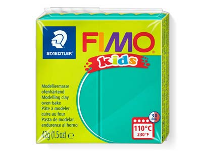 Fimo Kids Green 42g Polymer Clay   Block Fimo Colour Reference 5