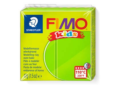 Fimo Kids Lime 42g Polymer Clay    Block Fimo Colour Reference 51