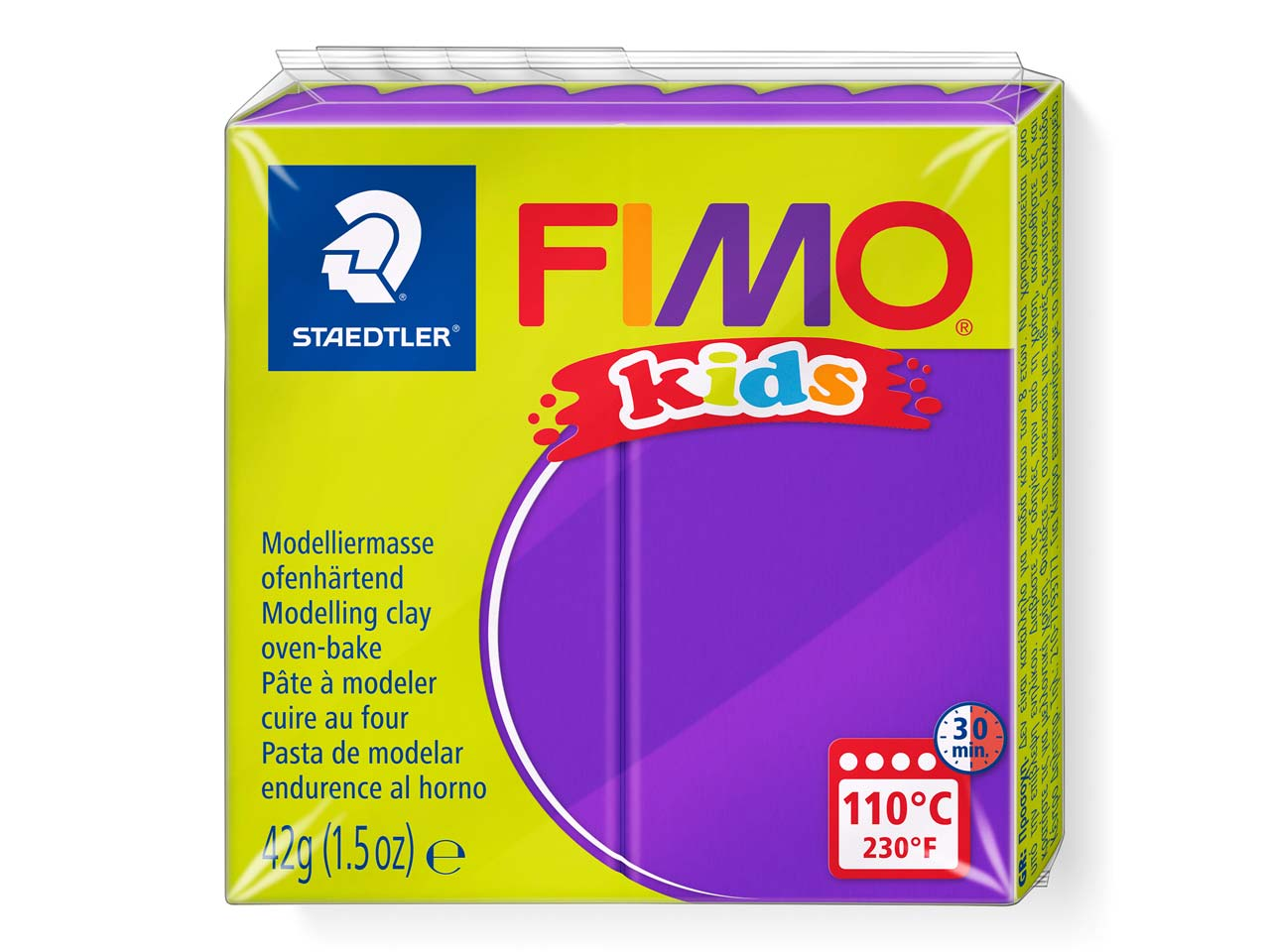 Fimo Kids Violet 42g Polymer Clay  Block Fimo Colour Reference 6