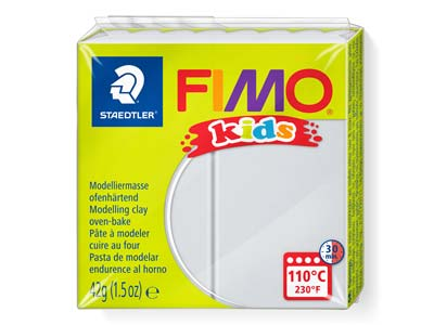 Fimo Kids Light Grey 42g Polymer    Clay Block Fimo Colour Reference 80