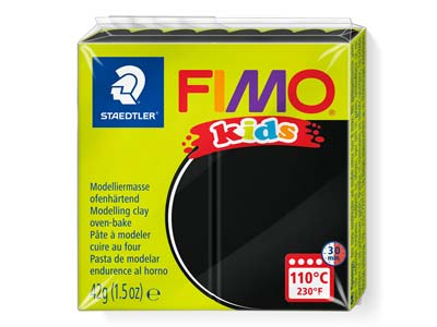 Fimo Kids Black 42g Polymer Clay   Block Fimo Colour Reference 9