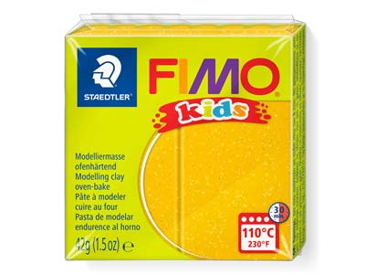 Fimo Kids Glitter Gold 42g Polymer Clay Block Fimo Colour Reference   112