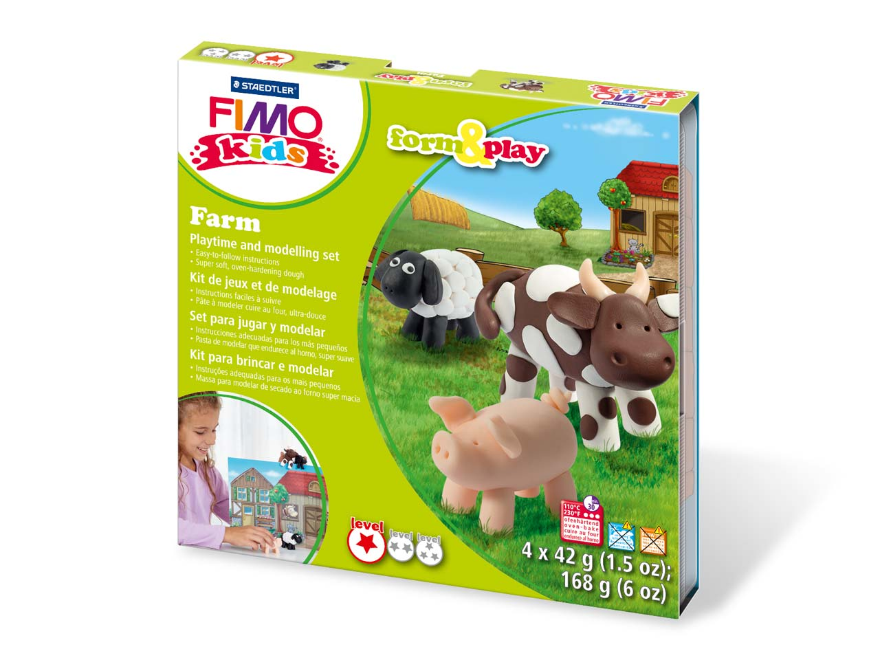 Fimo Farm Kids Form And Play       Polymer Clay Set
