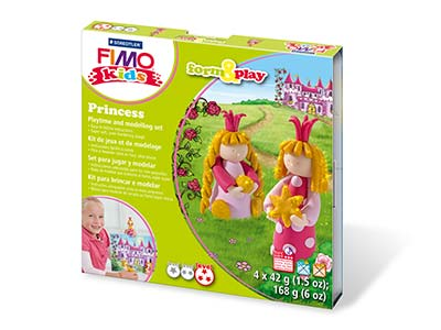 Fimo Princess Kids Form And Play   Polymer Clay Set