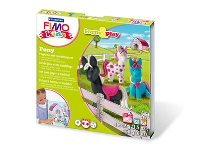 Fimo Pony Kids Form And Play       Polymer Clay Set