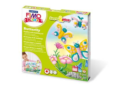 Fimo Butterfly Kids Form And Play  Polymer Clay Set