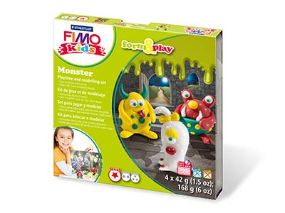 Fimo Monster Kids Form And Play    Polymer Clay Set