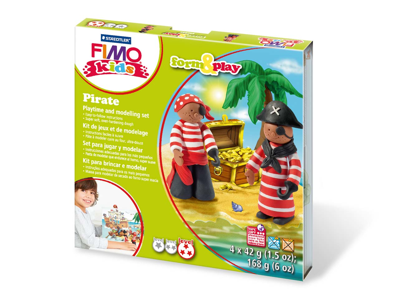 Fimo Pirate Kids Form And Play     Polymer Clay Set