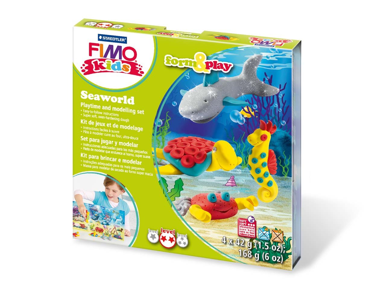 Fimo Seaworld Kids Form And Play   Polymer Clay Set