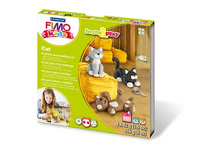 Fimo Cat Kids Form And Play Polymer Clay Set