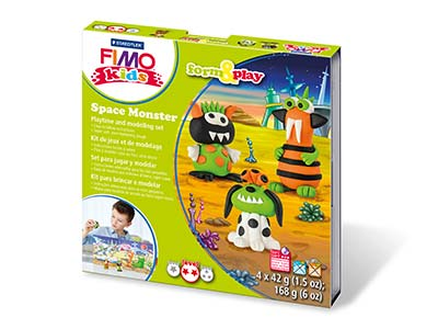 Fimo Space Monsters Kids Form And  Play Polymer Clay Set