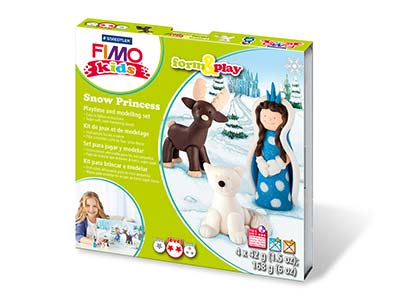 Fimo Snow Princess Kids Form And   Play Polymer Clay Set