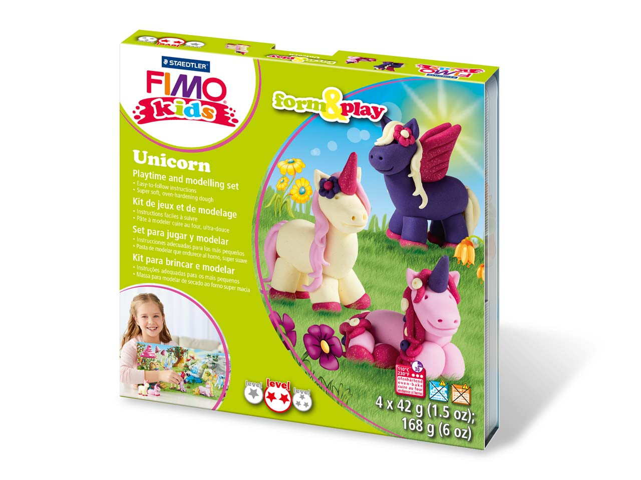 Fimo Unicorn Kids Form And Play    Polymer Clay Set