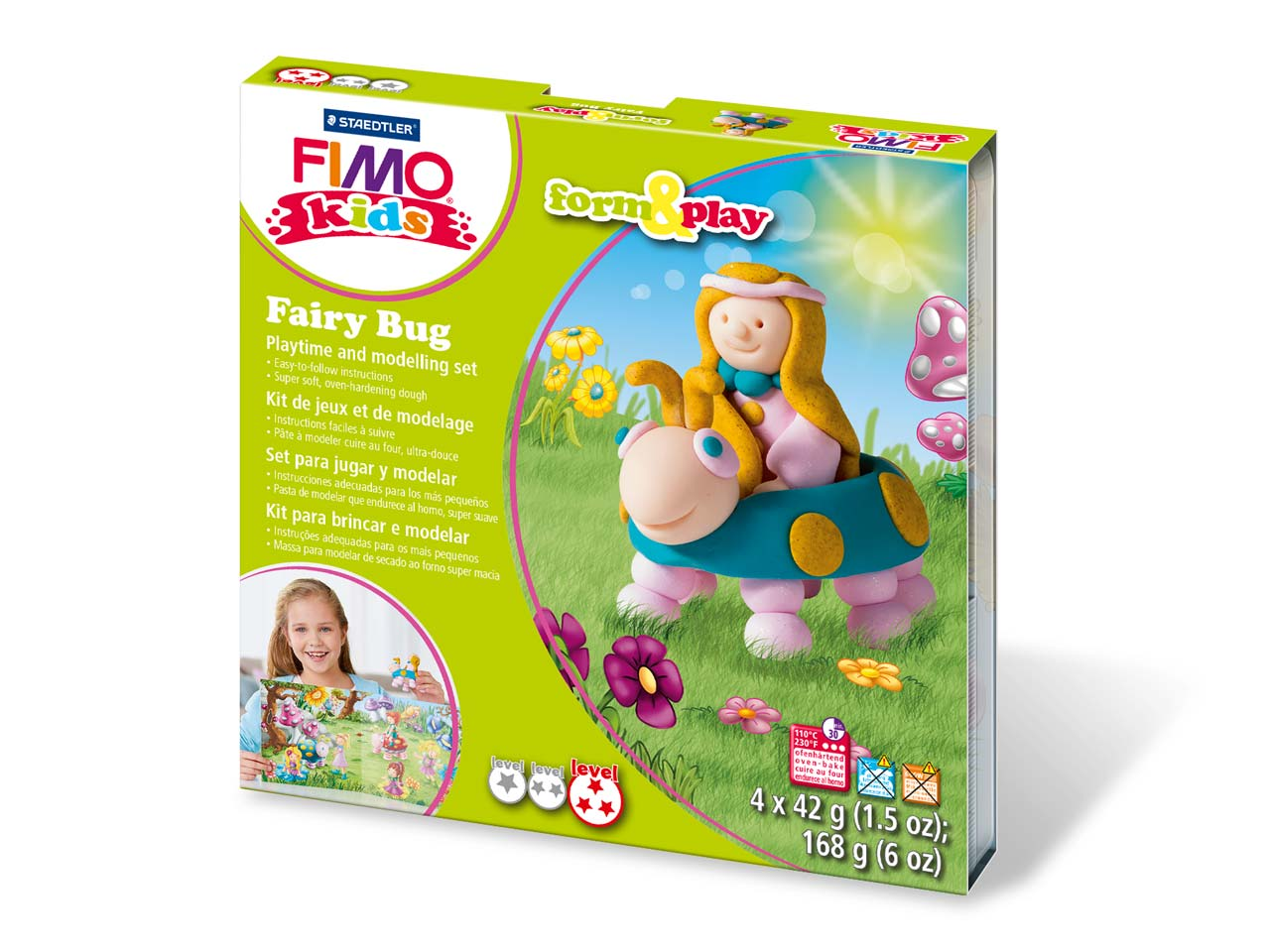 Fimo Fairy Bug Kids Form And Play  Polymer Clay Set