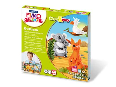 Fimo Outback Kids Form And Play    Polymer Clay Set