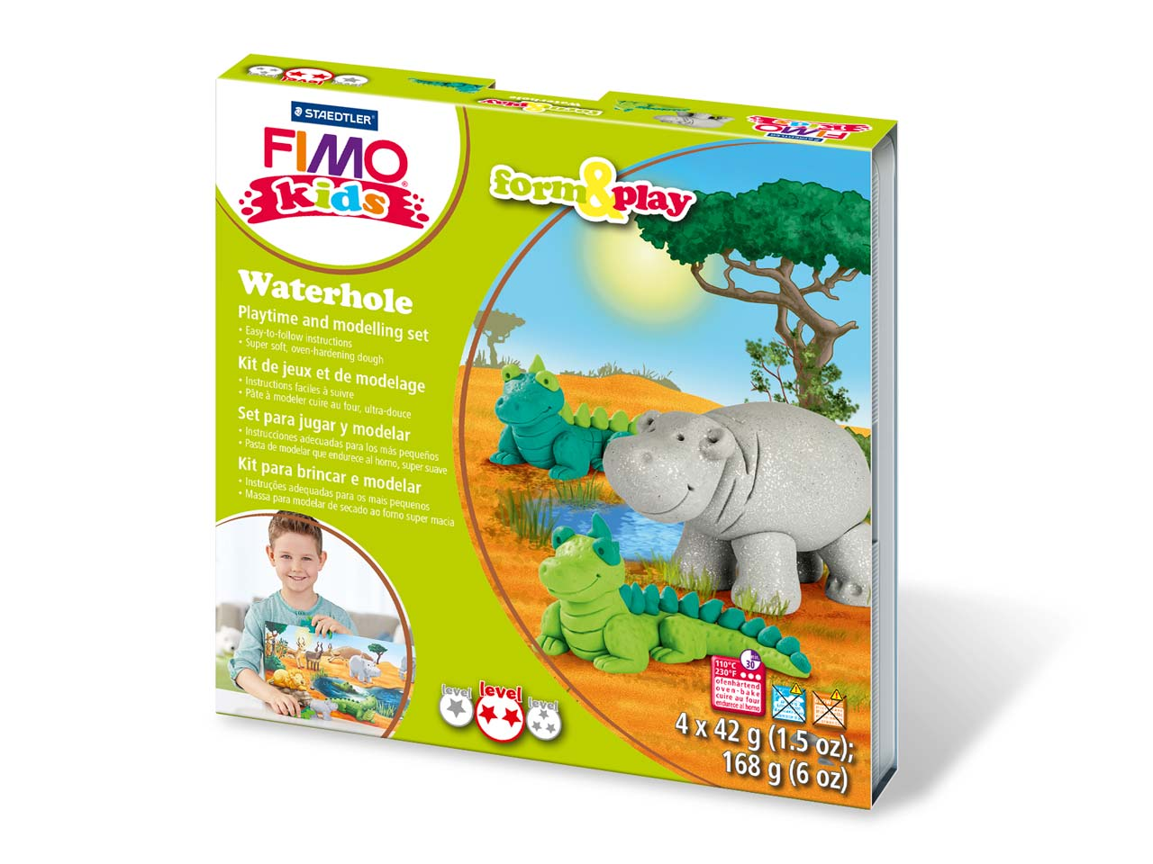 Fimo Waterhole Kids Form And Play  Polymer Clay Set
