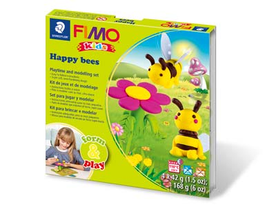 Fimo Happy Bees Kids Form And Play Polymer Clay Set