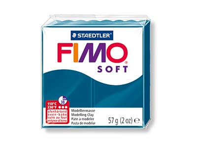Fimo Soft Calypso Blue 57g Polymer  Clay Block Fimo Colour Reference 31