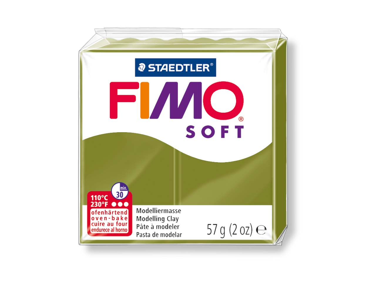 Fimo Soft Green Olive 57g Polymer   Clay Block Fimo Colour Reference 57