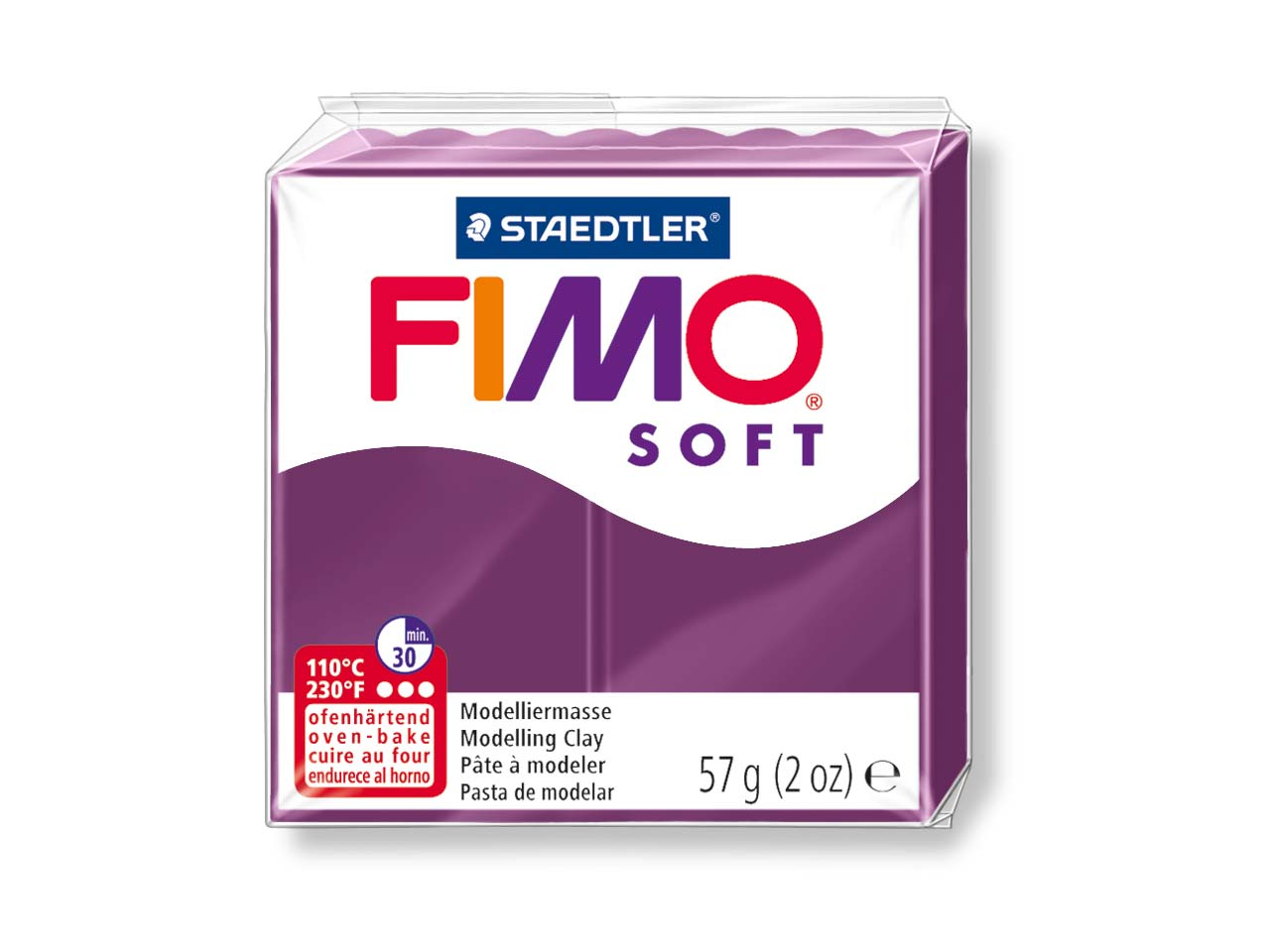 Fimo Soft Royal Violet 57g Polymer  Clay Block Fimo Colour Reference 66