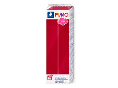 Fimo Soft Cherry Red 454g Polymer   Clay Block Fimo Colour Reference 26