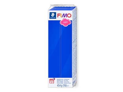 Fimo Soft Brilliant Blue 454g      Polymer Clay Block Fimo Colour     Reference 33