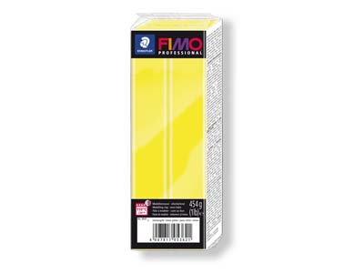 Fimo Professional Lemon Yellow 454g Polymer Clay Block Fimo Colour      Reference 1