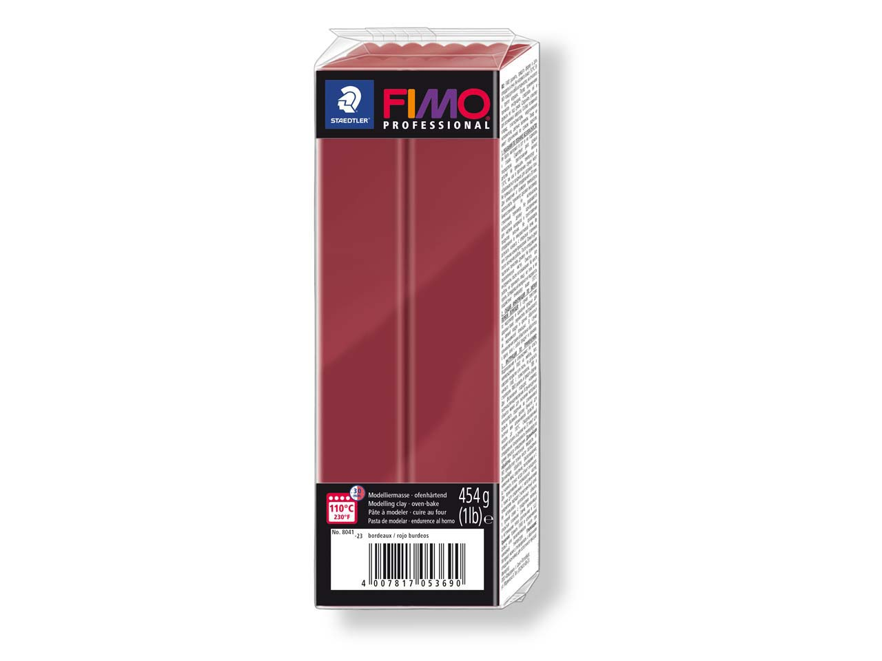 Fimo Professional Bordeaux 454g    Polymer Clay Block Fimo Colour     Reference 23