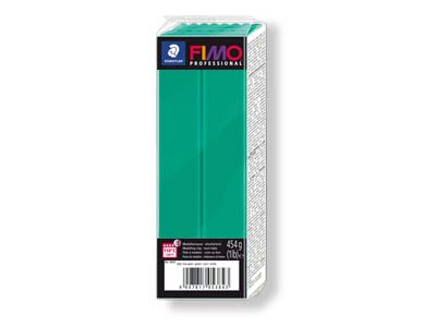 Fimo Professional True Green 454g  Polymer Clay Block Fimo Colour     Reference 500