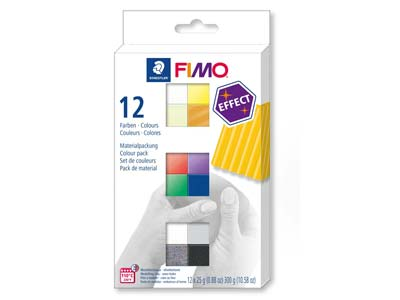 Fimo Effect Colour Pack of 12,