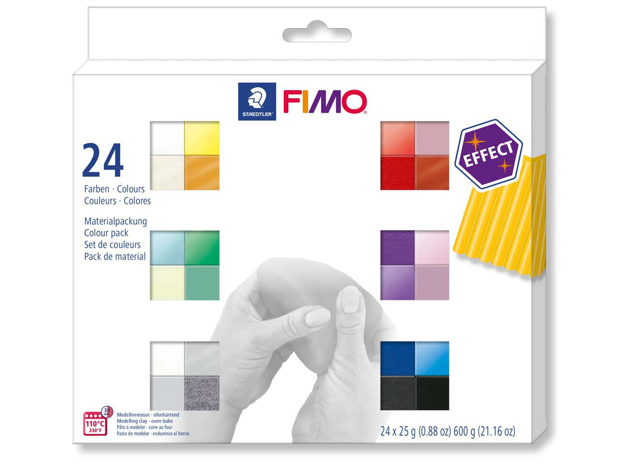 Fimo Effect Colour Pack of 24