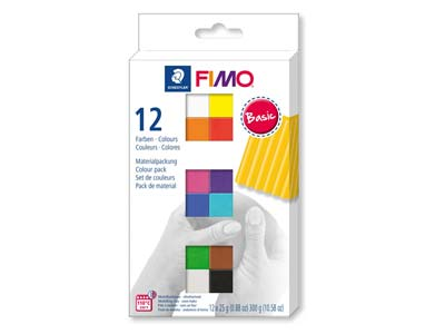 Fimo Soft Colour Pack Basic        Pack of 12,