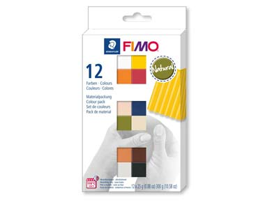 Fimo Soft Natural Colour Multi     Packof 12 X 25g Polymer Clay       Modelling Clay Blocks