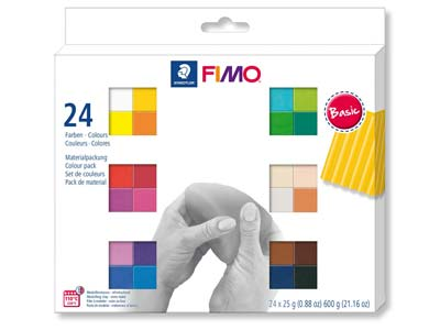 Fimo Soft Colour Pack Basic        Pack of 24