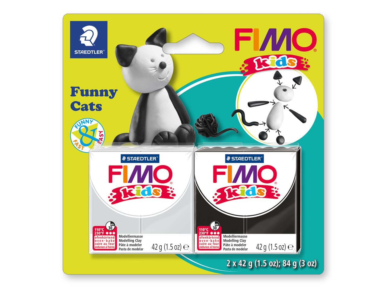 Fimo Kids Set Funny Cats