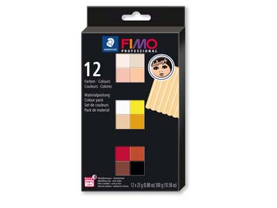 Fimo Professional Doll Art Colour  Pack of 12,
