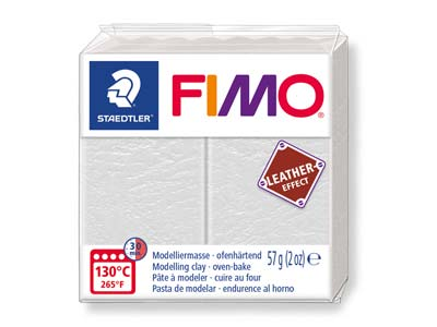 Fimo Leather Effect Ivory 57g      Polymer Clay Block Fimo Colour     Reference 029